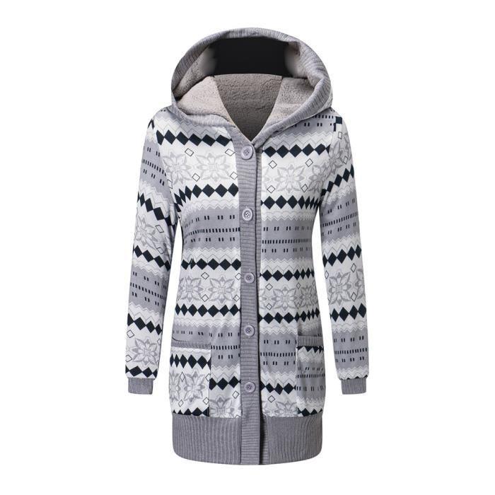 Tricot Veste gilet tricot coton capuche bleu clair Taille 46 NEUF