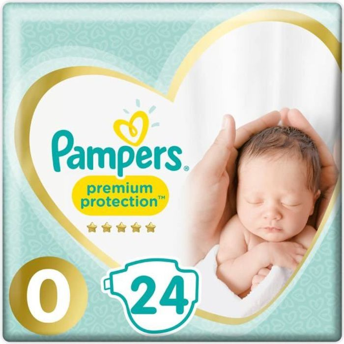 COUCHE Pampers Premium Protection Taille0, 24Couches