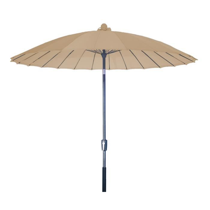 parasol centr vaticano blanc anti uv inclinable rond 250cm achat vente parasol parasol. Black Bedroom Furniture Sets. Home Design Ideas