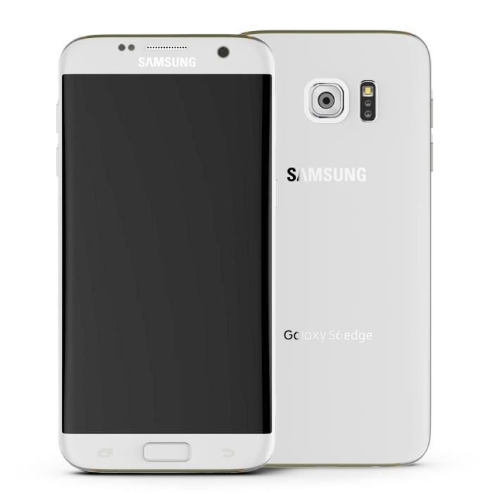 d bloqu samsung galaxy s6 edge g925v 32go 16mp blanc 5 1 tactile cran smartphone t l phone. Black Bedroom Furniture Sets. Home Design Ideas