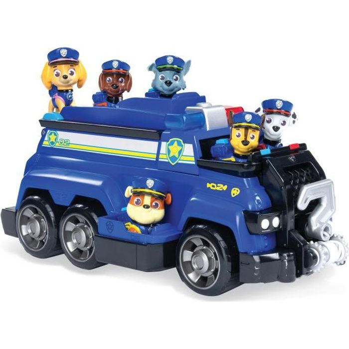 FIGURINE - PERSONNAGE PAT PATROUILLE Police Cruiser de Chase TEAM RESCUE