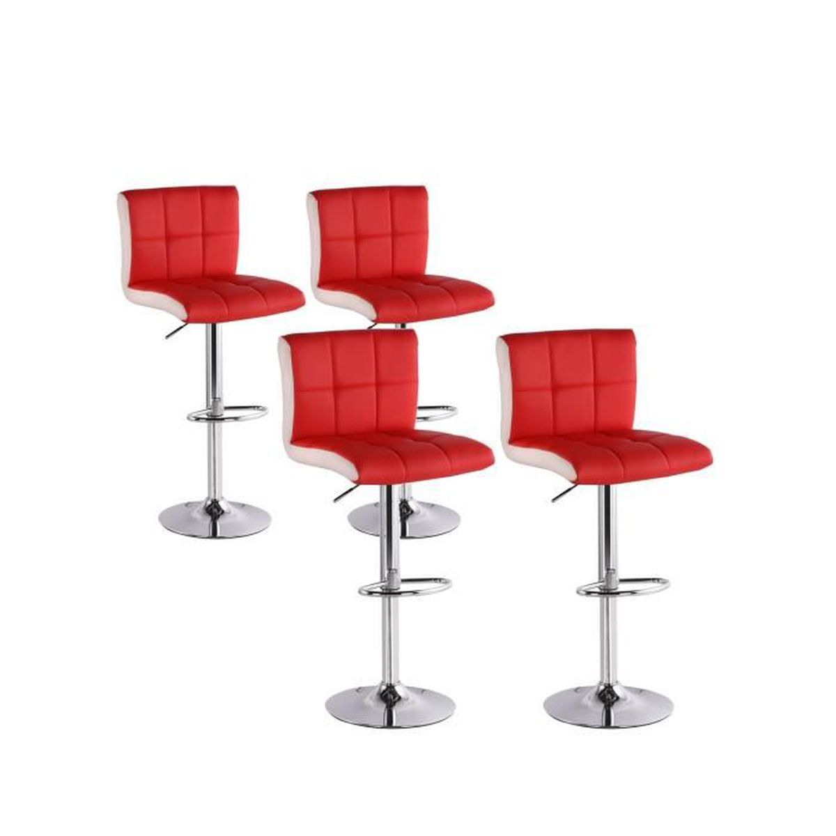 1efc35ddb502d4 Lot de 4 tabourets de bar Magic Rouge - Achat   Vente tabouret de ...