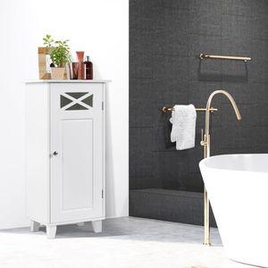 COLONNE - ARMOIRE WC Meuble WC / Armoire de Salle de Bain avec 3 Tablet