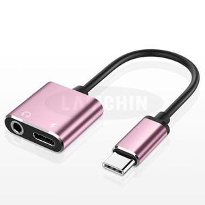 CÂBLE TÉLÉPHONE Adaptateur Jack USB C, 2 en 1 USB Type C vers 3.5m