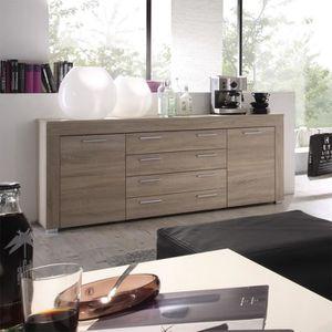 BUFFET - BAHUT  Buffet bahut contemporain couleur chêne clair OCTA