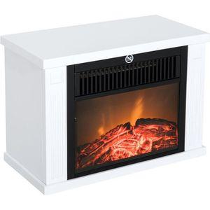 CHEMINÉE Homcom cheminée électrique poêle style contemporai