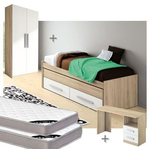 lit gigogne chene achat vente lit gigogne chene pas cher cdiscount. Black Bedroom Furniture Sets. Home Design Ideas