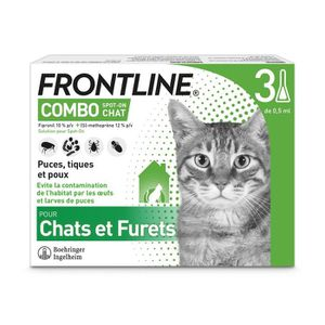ANTIPARASITAIRE FRONTLINE Combo chat - 3 pipettes