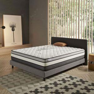 MATELAS Matelas SOLAR 140x200 cm mousse adaptative 8 couch