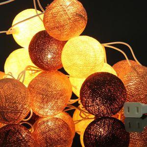 GUIRLANDE LUMINEUSE INT NEUFU 3M 20LED DIY Coton Boule Guirlande Lumineuse