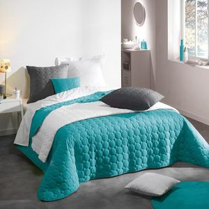couvre lit turquoise achat vente couvre lit turquoise pas cher. Black Bedroom Furniture Sets. Home Design Ideas