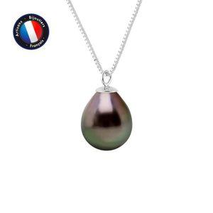 "8-9 mm Tahiti naturelle Noir Collier De Perles 18/"" AA Fashion Charmant"