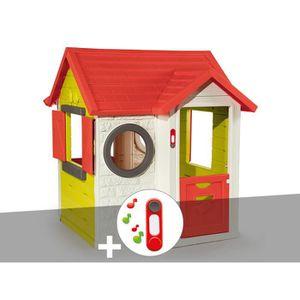 MAISONNETTE EXTÉRIEURE Cabane enfant My House - Smoby + Sonnette 115 x 12