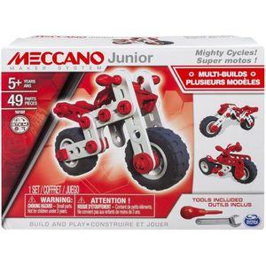 VOITURE À CONSTRUIRE MECCANO JUNIOR Super Motos 3 modèles en 1 - Jeu de