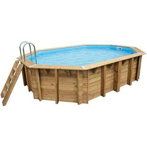 PISCINE UBBINK Piscine en bois Sunwater 490x300 h120 cm -