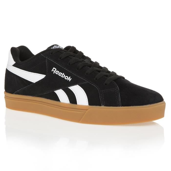 REEBOK Baskets Royal Comple - Homme - Noir et blanc
