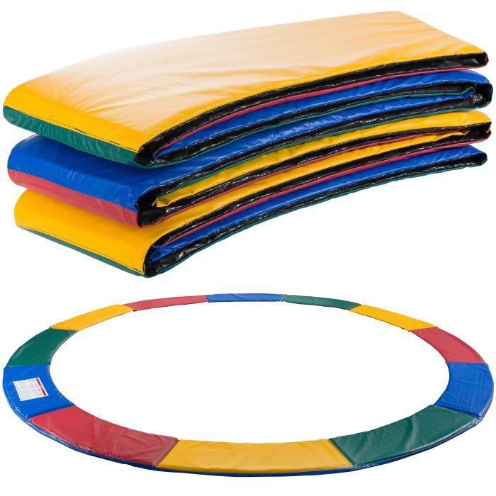 AREBOS Coussin de Protection des Ressorts Pour Trampoline 366 cm Multicolore