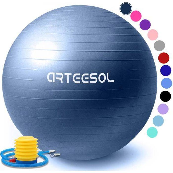 arteesol Ballon Fitness, Swiss Ball, Ballon Grossesse, Ballon Gym Ball Yoga Ballon d'exercice Balle avec Pompe Antidérapant 65cm