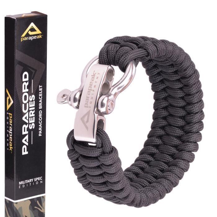 Bracelet de survie - Spec militaire Paracord - trilobite style avec nœud Sh réglable en acier inoxydable 3MCCK9