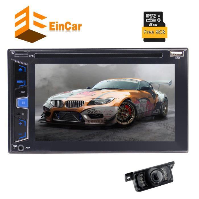 GPS de voiture Bluetooth Radio 3 Types d'interface utilisateur 6.2 pouces écran tactile capacitif DVD Lecteur CD Dash 2 Din Autoradi
