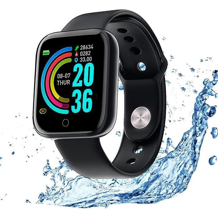 Montre Connectée Intelligente,Pression Artérielle Cardio Fréquence Smartwatch Bracelet Connecté Ecran Couleur Montre Sport Etanche