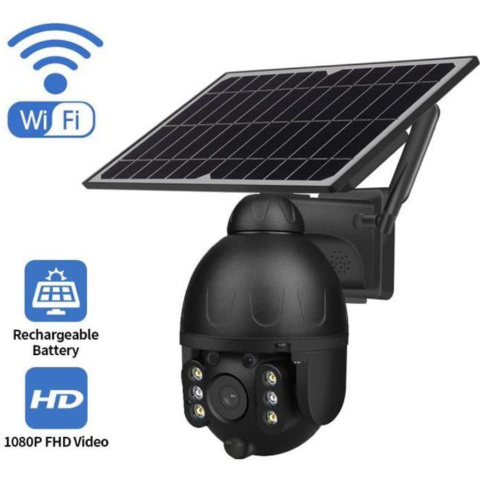 Caméra de Surveillance 1080P WiFi Extéreure avec Panneau Solaire Caméra IP 1920*1080P Vision Nocturne 30m Étanche IP67
