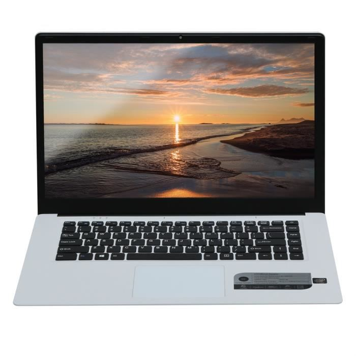 Quad Core ultra mince ordinateur portable 15.6''Screen affichage 1280x1080p 4 Go + 64 Go Windows 10 @Nihapai3456