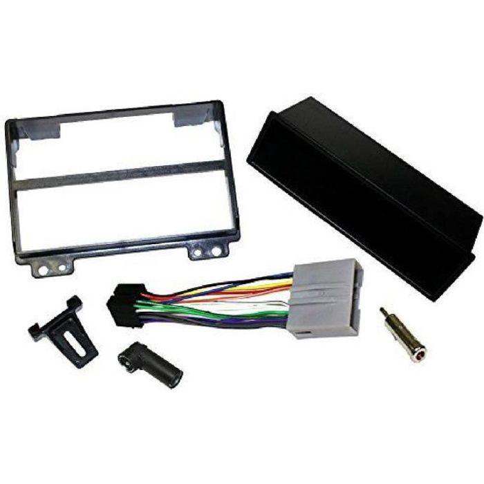 Kit Adaptateur Autoradio 1DIN noir Ford Fiesta/ Fusion 02-05 + ISO + FM - avec vide-poche