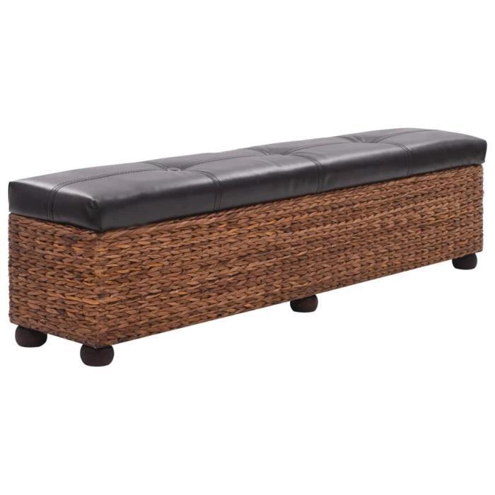 MMCZ® Banc Jacinthe d'eau - Banc de jardin Banc de table de séjour Style Scandinave - 140 x 29 x 40 cm Marron ❤5798