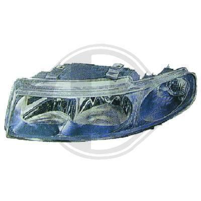 7431081 Feu phare gauche ( cote conducteur ) pour SEAT Toledo de type 1M , Leon de type 1L de 1999 a 2005 Look Origine