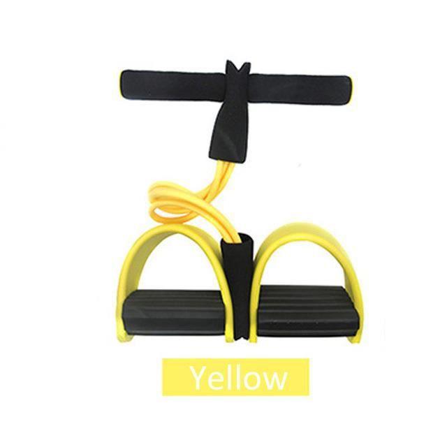 jaune Bandes de résistance élastiques, 4 cordes de traction résistantes, équipement de gymnastique en salle