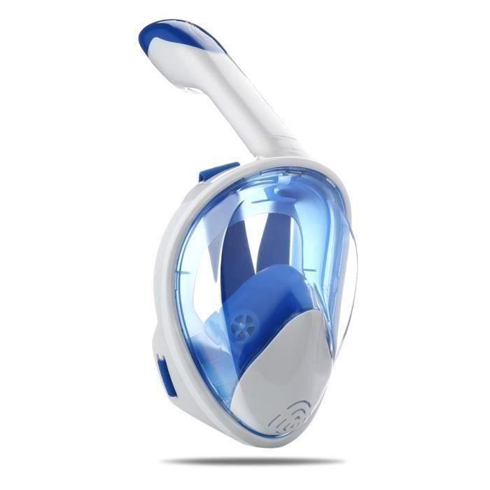 Masque de plongée plein visage 180° panoramique, avec technologie antibuée et anti-fuite, pour les sports aquatiques - S L0952
