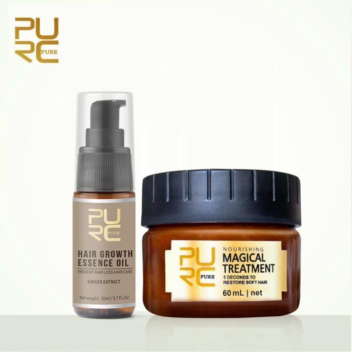 ABU2 PURC New Fast Hair Growth Essencel Oil Prevent Hair Loss 20ml and PURC Magical treatment mask Hair Care