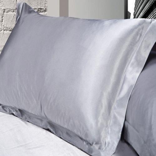 Drap Housse,couvre cheveux en Satin taie d'oreiller, 2 pièces, Standard, soie ~ y, aide au sommeil -D