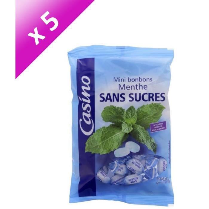 [LOT DE 5] Mini bonbons à la menthe sans sucres - 150 g