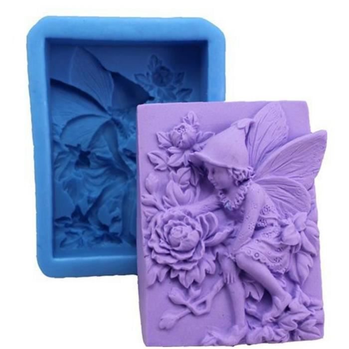 1 PC Chic Fairy Flower Savon Moule Multi Usage Chocolate Silicone Moule Exquise Girl Angel Cake Tool