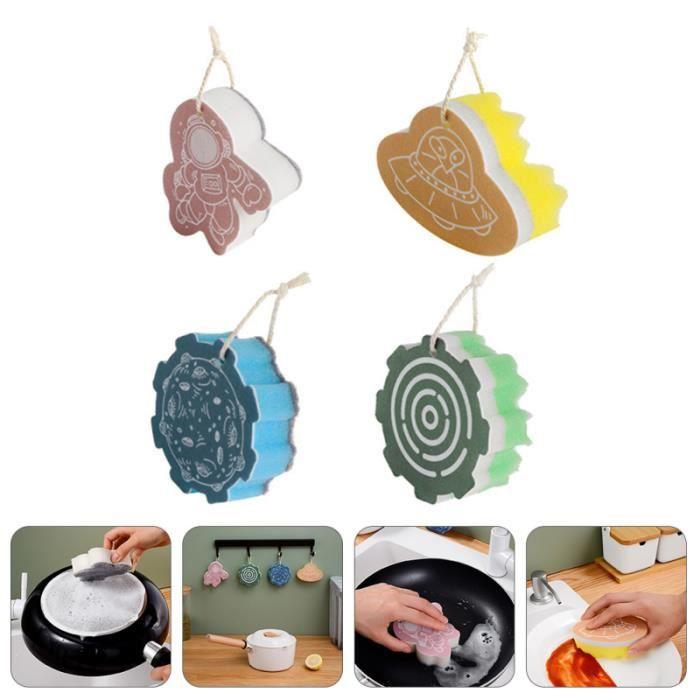 4 pavés d'éponges de l'éponge durable éponge utile éponges brosses cuisine outils tour de potier - tournette modelage - sculpture