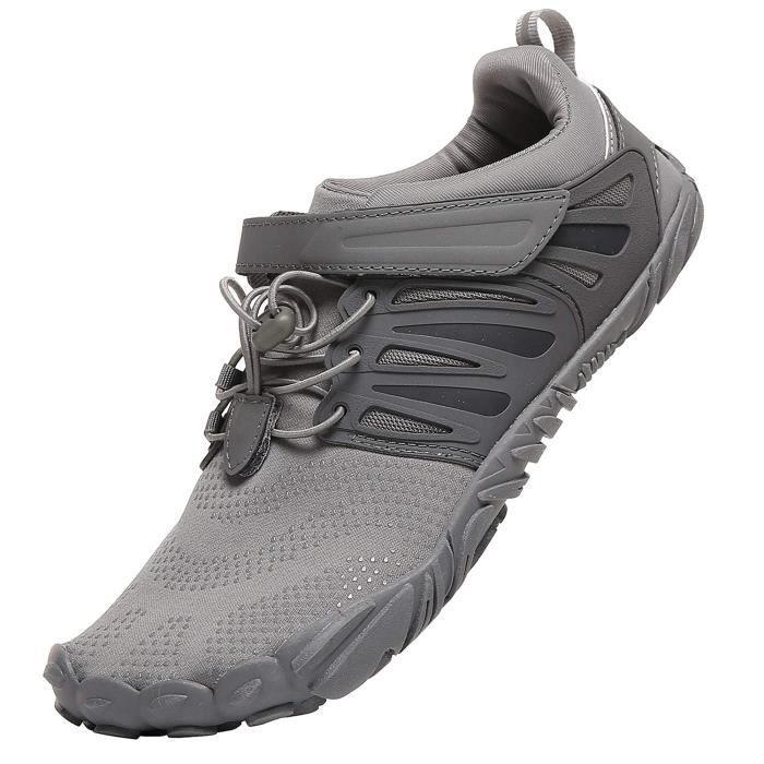 Chaussures De Running AVOIP Trail Chaussures de course aux pieds nus Minimaliste large Toe Box Taille-46