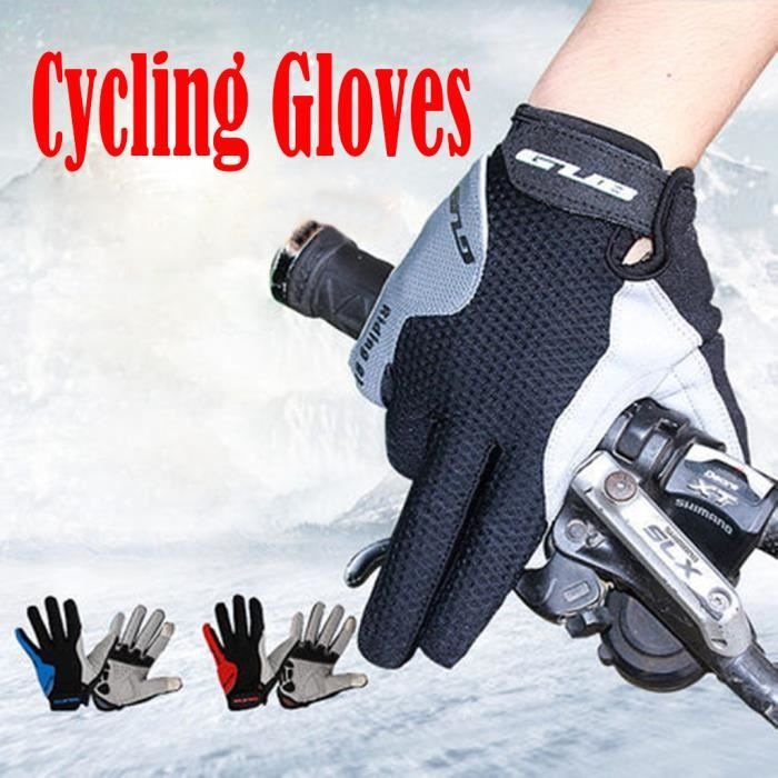 Gants de cyclisme gant de vélo de route vtt léger coussin de gel gant d'équitation doigt complet yujian322