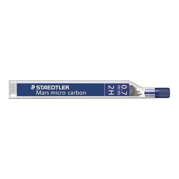 STAEDTLER Mars micro carbon Mine de crayon 2H 0.7 mm pack de 12 pour graphite 779