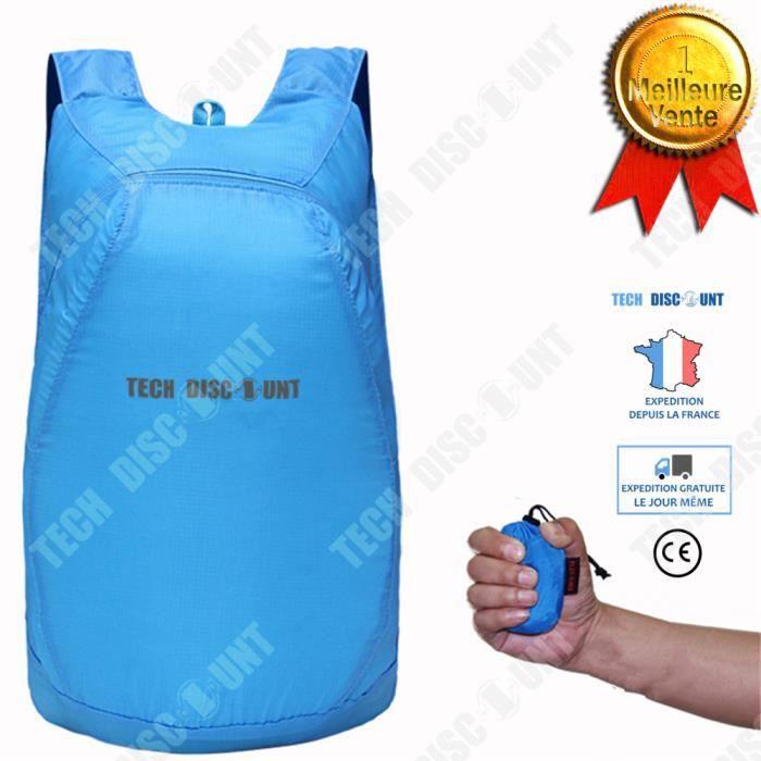 TD® Sac à dos pliable dépliable sport petit facile à transporter 35L waterproof étanche quotidien résistant randonnée loisirs voyage