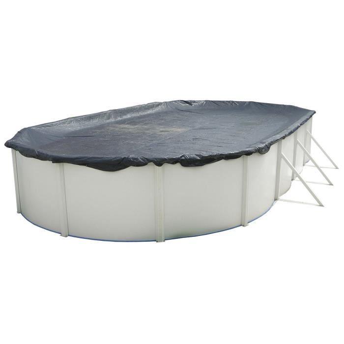 TORRENTE Bâche d'hiver pour piscine 550x366cm - Noire