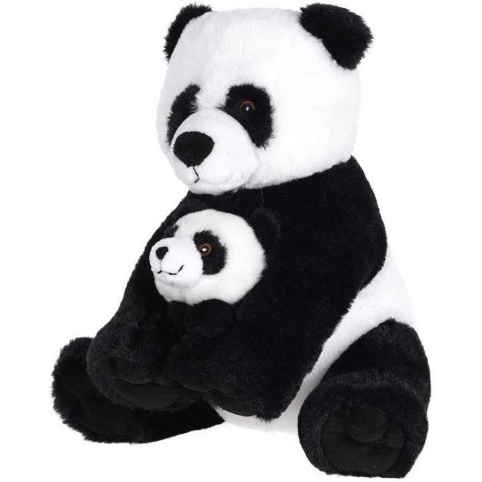 Peluche Panda Maman et Bébé - Très Réaliste et Doux au toucher