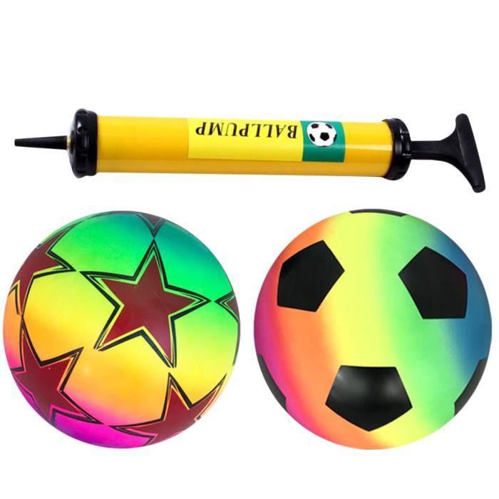 1 ensemble de jouets drôle ballon de football gonflable PVC balle pour les enfants pour la MEDECINE BALL - BALLON DE MUSCULATION