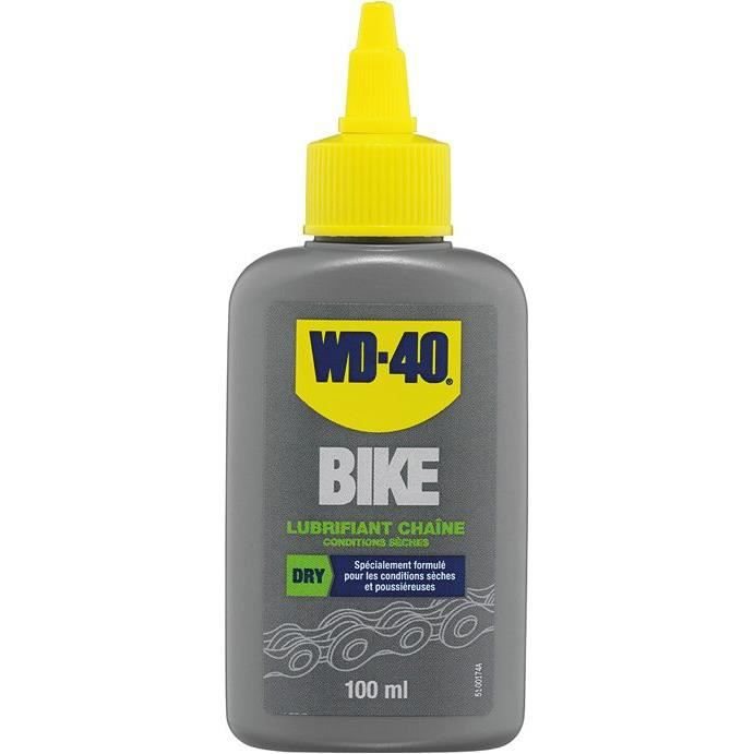 Wd40 bike lubrifiant chaines conditions seches 100ml