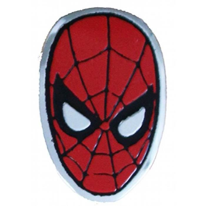 Spiderman Spider Man Head Metal Autocollant Z9nfm Achat Vente Jeu De Coloriage Dessin Pochoir Cdiscount