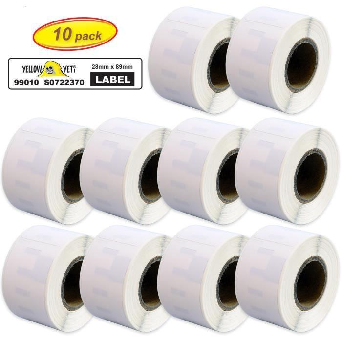 10 20 50 100 Rouleaux thermique étiquettes d/'adresse 99010 pour Dymo Seiko Fast Post NEUF