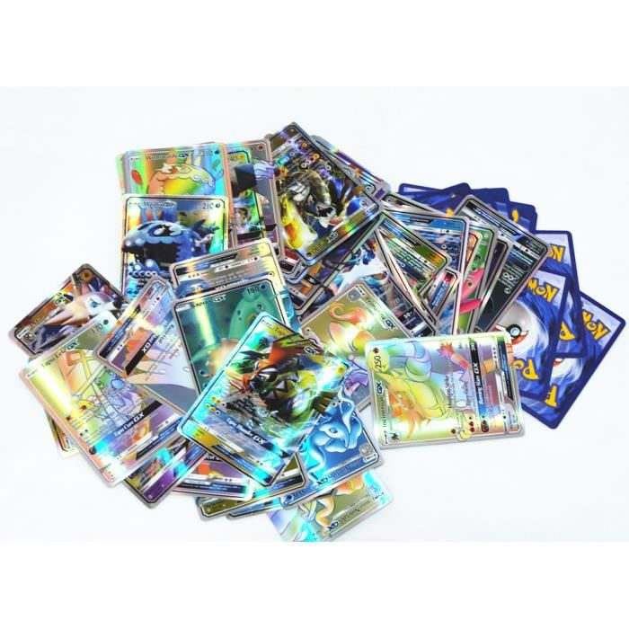 CARTE A COLLECTIONNER 60 pcs Pokemon GX Cartes SOLEIL ET LUNE anglaise
