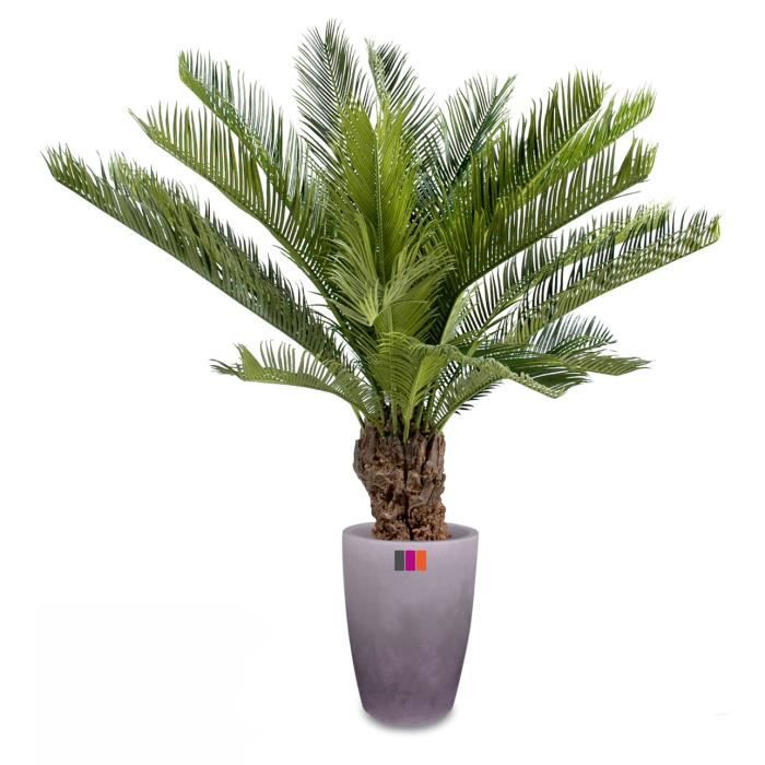 Palmier artificiel cycas 90cm plante tropicale achat for Grand pot exterieur pour palmier
