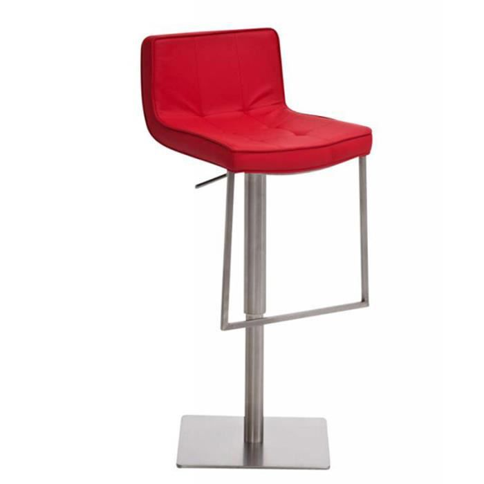 tabouret de bar en simili cuir coloris rouge d achat. Black Bedroom Furniture Sets. Home Design Ideas